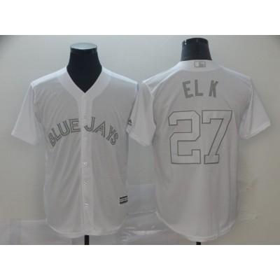 MLB Blue Jays Vladimir Guerrero Jr. El K White 2019 Players Weekend Player Men Jersey