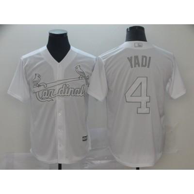 MLB Cardinals 4 Yadier Molina Yadi White 2019 Players Weekend Player Men Jersey
