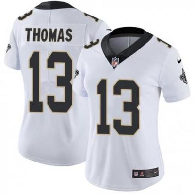 Nike New Orleans Saints 13 Michael Thomas White Vapor Untouchable Limited Women jersey