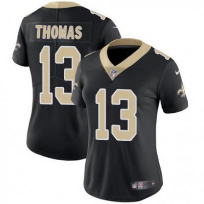 Nike New Orleans Saints 13 Michael Thomas Black Vapor Untouchable Limited Women jersey