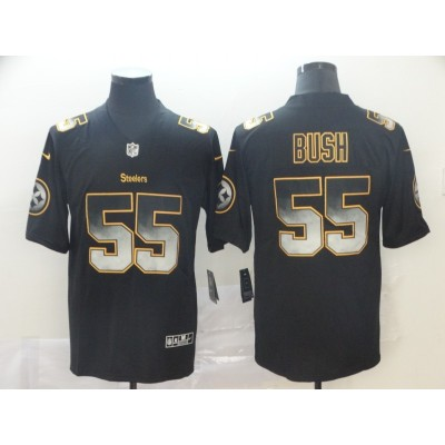 Pittsburgh Steelers 55 Devin Bush 2019 Black Smoke Fashion Limited Men Jersey