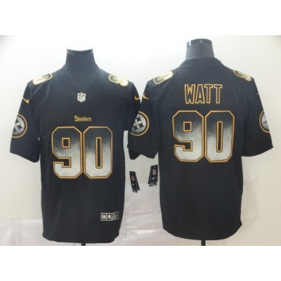 Pittsburgh Steelers 90T. J. Watt 2019 Black Smoke Fashion Limited Men Jersey