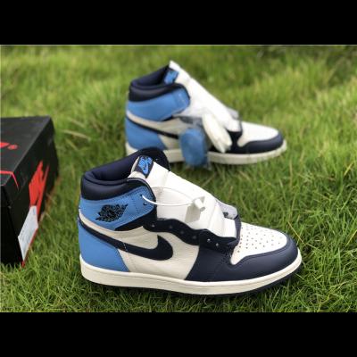 Air Jordan 1 Retro High OG Blue Black Shoes