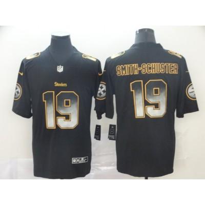 Pittsburgh Steelers 19 JuJu Smith-Schuster 2019 Black Smoke Fashion Limited Men Jersey
