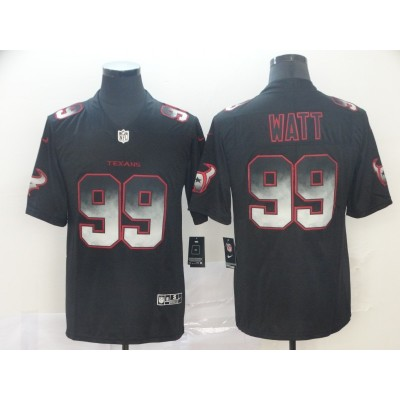 Houston Texans 99 J.J. Watt Black 2019 Smoke Fashion Limited Men Jersey