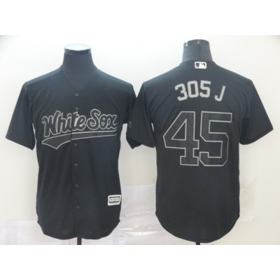 MLB White Sox 45 Michael Jordan 305 J  Black 2019 Players Weekend Player Men Jersey