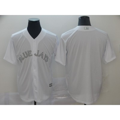 MLB Blue Jays Blank White 2019 Players Weekend Player Men Jersey