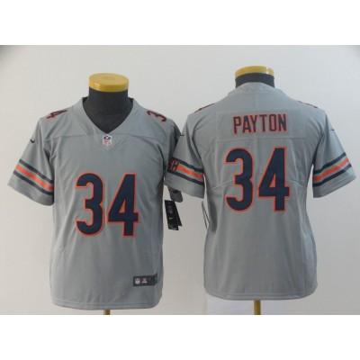 Nike Bears 34 Walter Payton Sliver Inverted Legend Youth Jersey