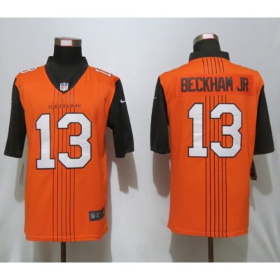 Nike Browns 13 Odell Beckham Jr. Brown City Edition Vapor Untouchable Limited Men Jersey