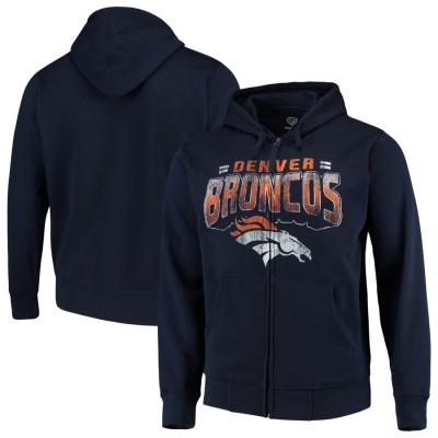 Denver Broncos G III Sports by Carl Banks Perfect Season Full Zip Hoodie Navy