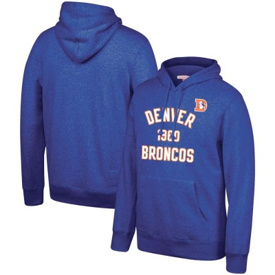 Denver Broncos Mitchell & Ness Team History Pullover Hoodie Blue