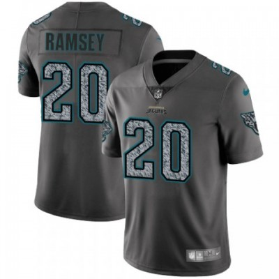 Nike Jaguars 20 Jalen Ramsey Gray Static Vapor Untouchable Limited Men Jersey