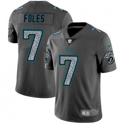 Nike Jaguars 7 Nick Foles Gray Static Vapor Untouchable Limited Men Jersey