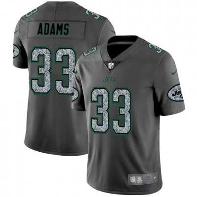Nike Jets 33 Jamal Adams Gray Static Vapor Untouchable Limited Men Jersey