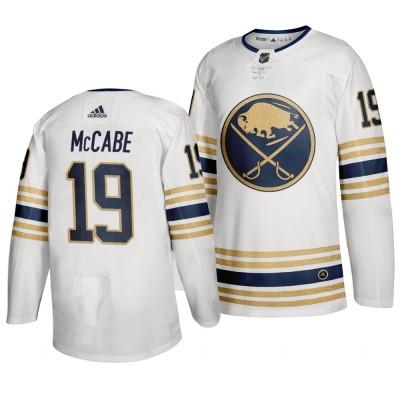 Sabres 19 Jake McCabe White 50th anniversary Adidas Men Jersey