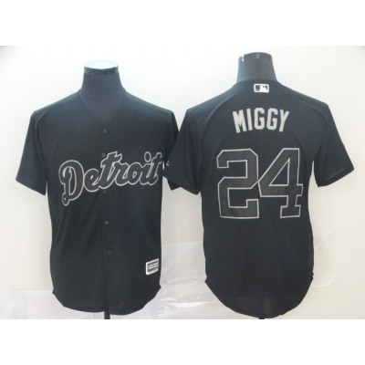 MLB Tigers 24 Miguel Cabrera Miggy Black 2019 Players Weekend Player Men Jersey