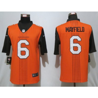 NFL Browns 6 Baker Mayfield City Edition Brown Jersey
