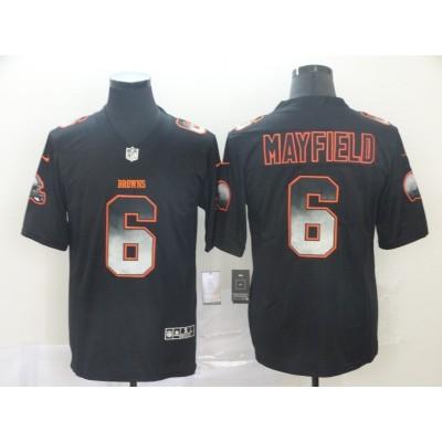 Cleveland Browns 6 Baker Mayfield Black 2019 Smoke Fashion Limited Men Jersey