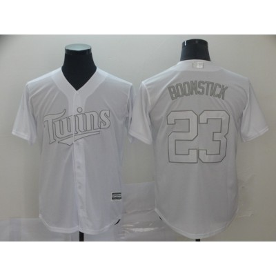 MLB Twins 23 Nelson Cruz Boomstick White 2019 Players Weekend Player Men Jersey
