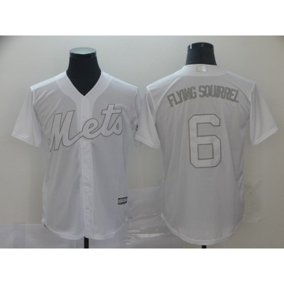 MLB Mets 6 Jeff McNeil Flying Squirrel White 2019 Players Weekend Player Men Jersey