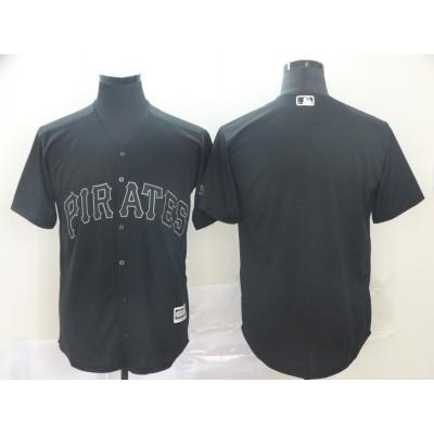 MLB Pirates Blank Black 2019 Players Weekend Player Men Jersey