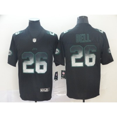 New York Jets 26 Le'Veon Bell 2019 Black Smoke Fashion Limited Men Jersey