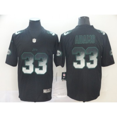 New York Jets 33 Jamal Adams 2019 Black Smoke Fashion Limited Men Jersey