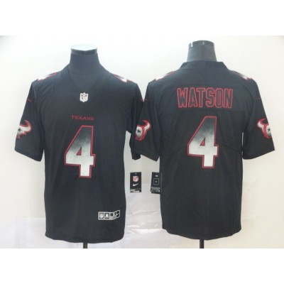 Houston Texans 4 Deshaun Watson Black 2019 Smoke Fashion Limited Men Jersey
