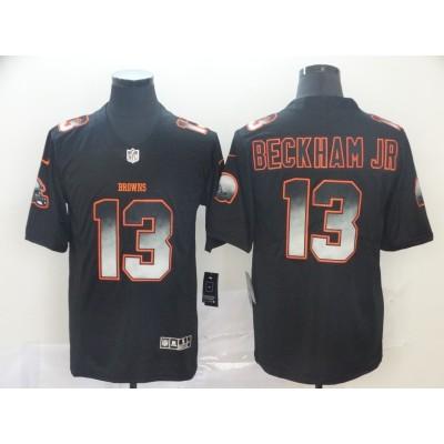 Cleveland Browns 13 Odell Beckham Jr. Black 2019 Smoke Fashion Limited Men Jersey