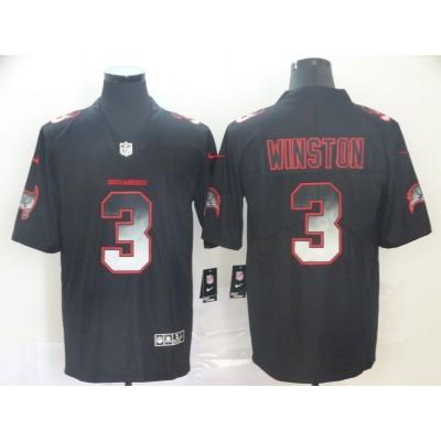 Tampa Bay Buccaneers 3 Jameis Winston Black 2019 Smoke Fashion Limited Men Jersey