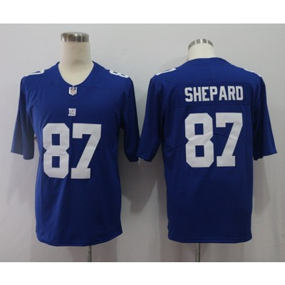 Nike Giants 87 Sterling Shepard Royal Vapor Untouchable Limited Men Jersey