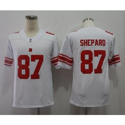 Nike Giants 87 Sterling Shepard White Vapor Untouchable Limited Jersey