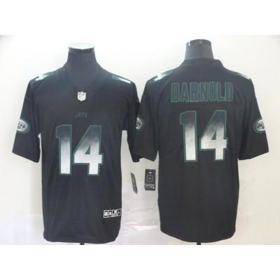New York Jets 14 Sam Darnold Black 2019 Smoke Fashion Limited Men Jersey