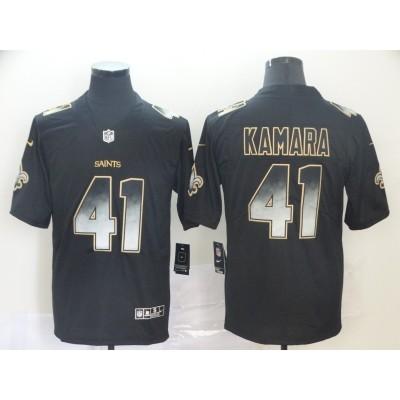 New Orleans Saints 41 Alvin Kamara 2019 Black Smoke Fashion Limited NFL Men Jersey