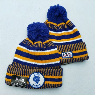 NFL Los Angeles Rams 100th Knit Hat 2