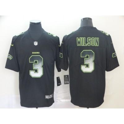 Seattle Seahawks 3 Russell Wilson Black 2019 Smoke Fashion Limited Men Jersey