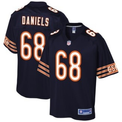 NFL Chicago Bears 68 James Daniel Pro Line Navy Player Elite Men Jersey