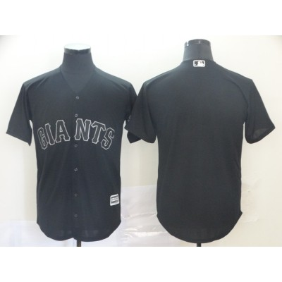MLB Giants Blank Black 2019 Players Weekend Player Men Jersey