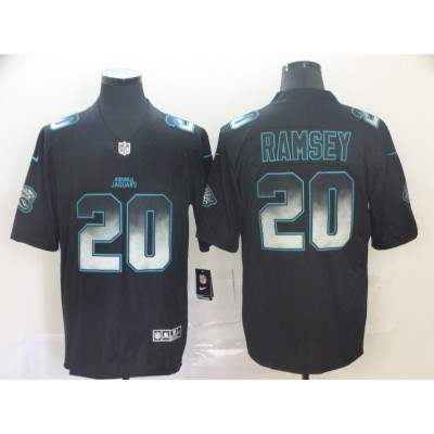 Jacksonville Jaguars 20 Jalen Ramsey 2019 Black Smoke Fashion Limited Men Jersey