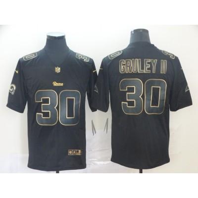 Nike Rams 30 Todd Gurley II Black Gold Vapor Untouchable Limited Men Jersey