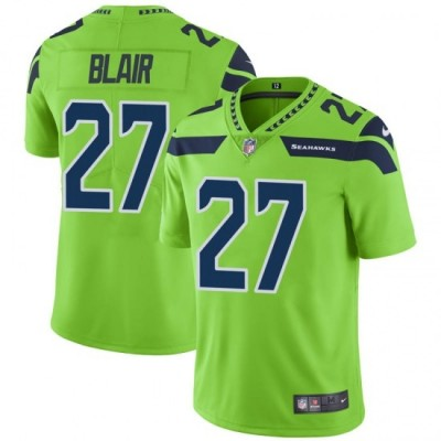 Nike Seattle Seahawks 27 Marquise Blair Color Rush Limited Green Men Jersey