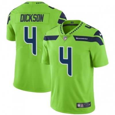 Nike Seattle Seahawks 4 Michael Dickson Color Rush Limited Green Men Jersey