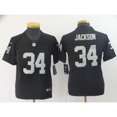 Nike Raiders 34 Bo Jackson Black Vapor Untouchable Limited Youth Jersey