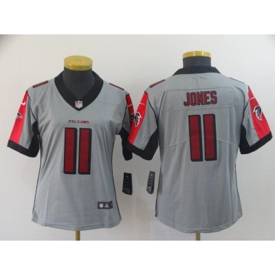 Nike Falcons 11 Julio Jones Inverted Legend limited Women Jersey