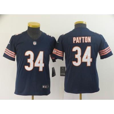 Nike Bears 34 Walter Payton Navy Vapor Untouchable Limited Youth Jersey