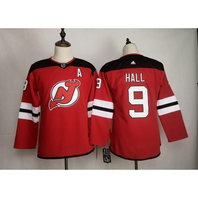 NHL Devils 9 Taylor Hall Red Women Adidas Jersey