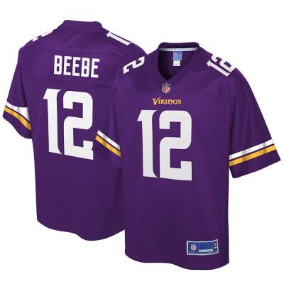 NFL Minnesota Vikings Chad Beebe Pro Line Purple Men Jersey