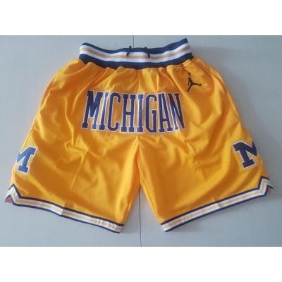 NCAA Michigan Wolverines Yellow Just Don Shorts