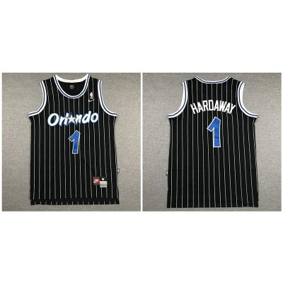 NBA Magic 1 Anfernee Hardaway Black Nike Men Jersey