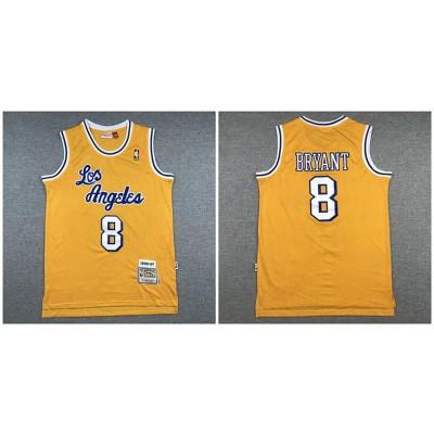 NBA Lakers 8 Kobe Bryant Yellow 1996-97 Hardwood Classics Men Jersey